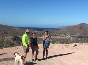 Hiking San Evaristo: Cambell's Sloop and Victoria from Agatha.